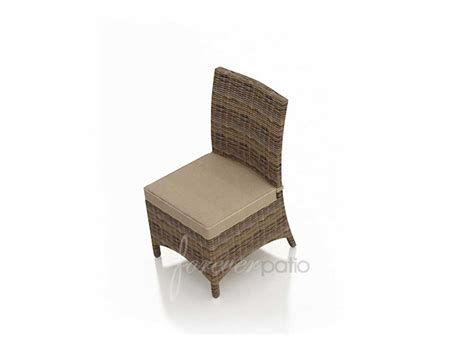 Wicker Dining Chair Cushions Forever Patio Cypress Wicker Cushion Side Dining Chair Fp Cyp Dsc Hr