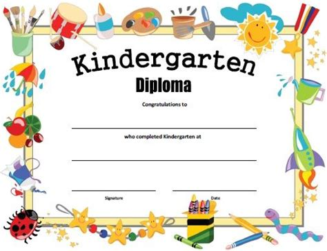 templates powerpoint kindergarten free printable kindergarten diploma kindergarten spring
