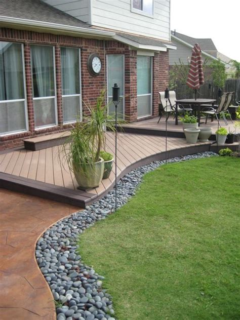 Backyard Accents by Wonderful Trex Decking In Trex Saddle Accents With A