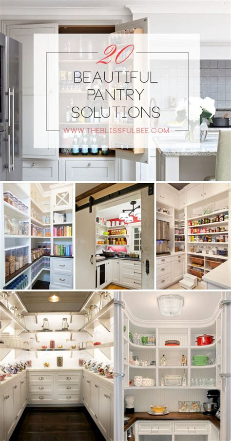 Pantry Solutions 20 Beautiful Pantry Solutions The Blissful Bee