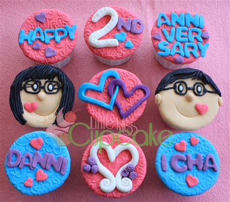 Wedding Anniversary Cupcakes by Anniversary Miss Cupcake