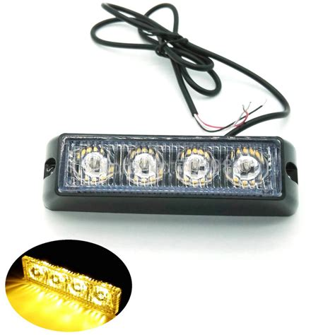 police strobe lights for motorcycles aliexpress com buy 2pcs 4 led car truck flash fog
