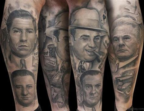 mob tattoo designs 50 outstanding portrait tattoos for leg