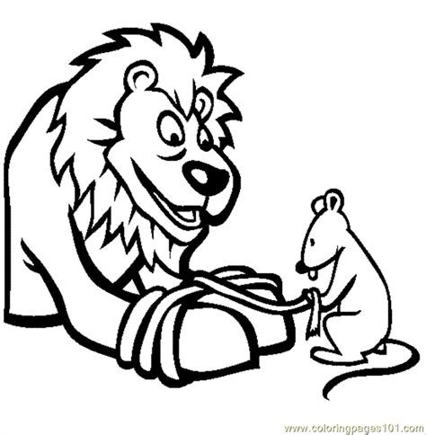 coloring pages the lion and the mouse the lion and the mouse coloring page free mouse coloring