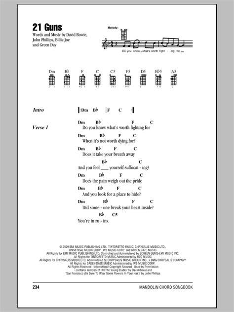 guitar tutorial 21 guns 21 guns by green day mandolin chords lyrics guitar