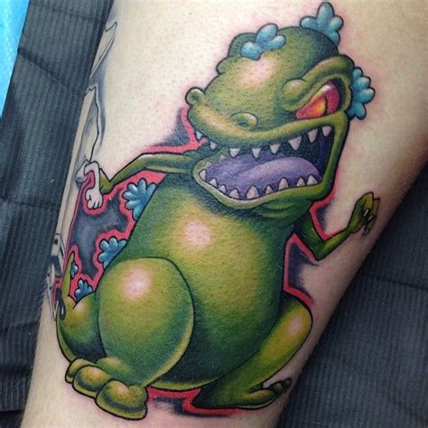 reptar tattoo 50 tattoos that prove nerds are badass tattoos