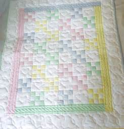 nine patch amish baby quilt
