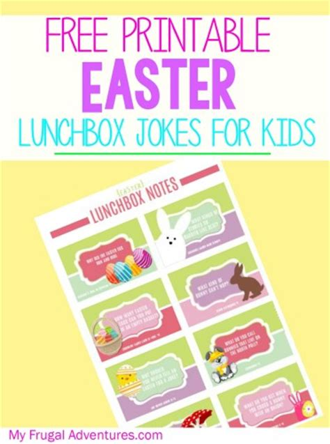 printable easter lunch box jokes my frugal adventures latest articles bloglovin