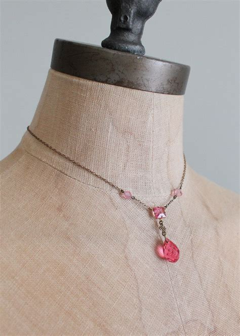 how to make flapper knot vintage 1920s pink prism necklace with celtic knot