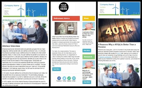 New Complimentary Newsletter Templates For 401kfiduciaryoptimizer And Larkspur Executive Clients Executive Newsletter Template
