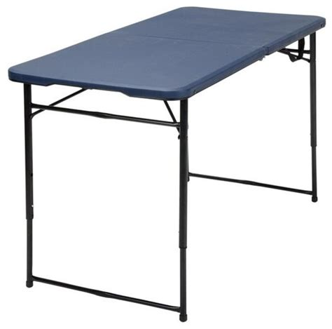 Folding Table Adjustable Height Ameriwood Cosco 4 Height Adjustable Folding Tailgate Table Black Folding Tables Houzz