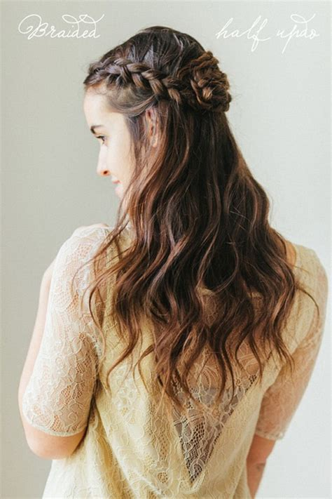 wedding hairstyles half up half down with braid and veil half up half down braided hairstyles