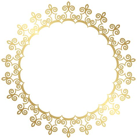 silver foil pattern png overlays textures on creative market round gold border frame transparent clip art image