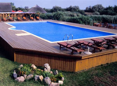 above ground pool side table above ground rectangular swimming pools pool design ideas