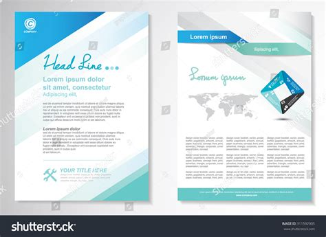 layout for flyer vector brochure flyer design layout template stock vector