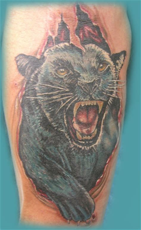panther cover up tattoo designs artist