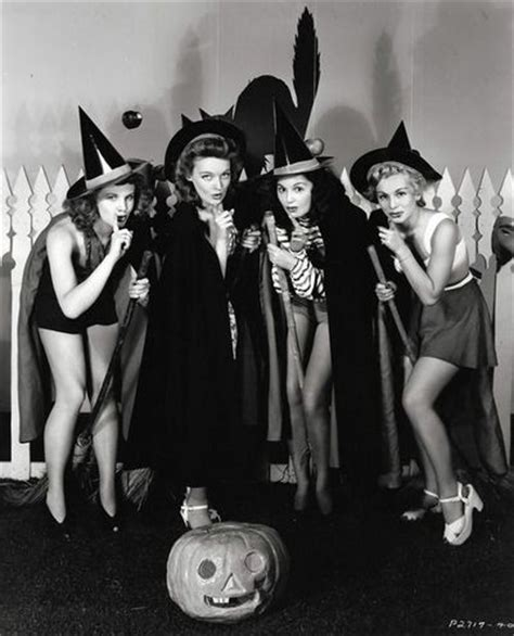 classic hollywood witches vintage hollywood halloween pin ups vintage halloween