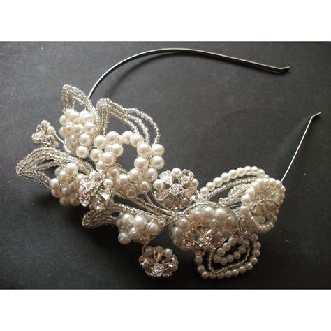 Handmade Bridal Jewellery Uk - jayne statement couture bridal headpiece handmade
