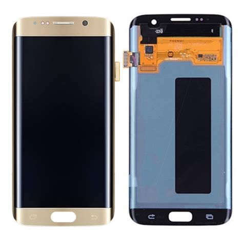 Lcd Samsung S7 Edge Replika original gold s7 g935 edge lcd display and touch screen