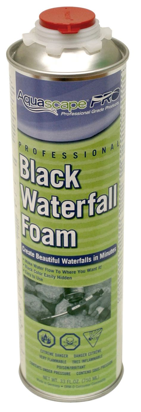 aquascape waterfall foam aquascapes aquascape 174 professional waterfall foam black