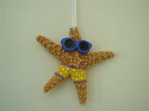 starfish christmas ornament handpainted christmas decoration