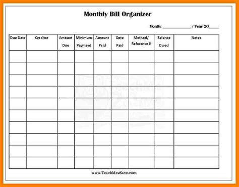 Monthly Bills Excel Template by Monthly Bill Spreadsheet Template Excel Spreadsheet