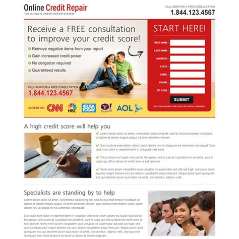 Credit Repair Templates Free Credit Repair Landing Page Design Template To Boost Your Credit Repair Business Page 3