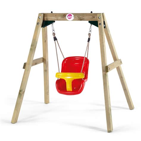 bsby swings plum wooden baby swing set plum play uk