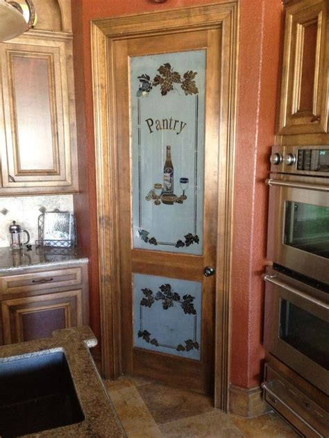 interior ideas   frosted pantry door  kitchen