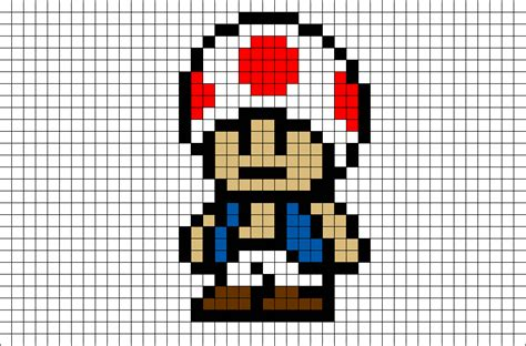 toad mario pixel brik