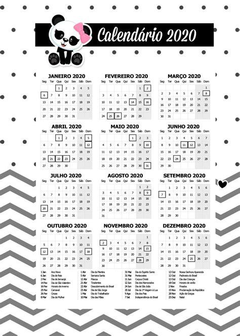 planner calendario  panda rosa fazendo  nossa festa