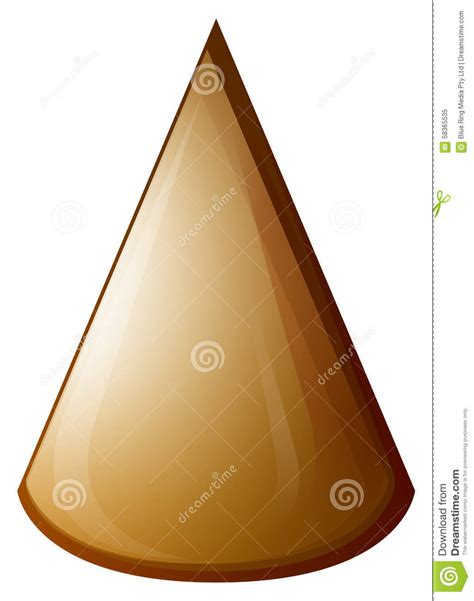 Brown By Dreamcone Soflens brown cone on white stock vector image 58365535