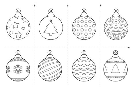 baubles templates to colour free printables for rss