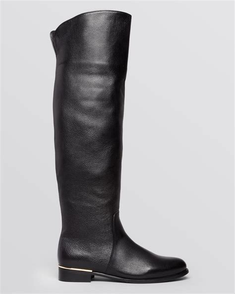 la canadienne boots la canadienne the knee boots in black black