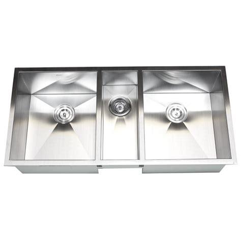 3 bowl stainless steel kitchen sinks 42 inch 16 gauge stainless steel undermount zero radius