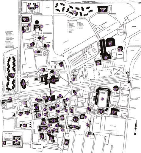 hofstra map cus map and legend hofstra acalog acms