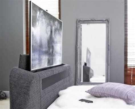 Tv Bed Frame Only King Size Maximus Charcoal Fabric Multimedia Tv Bed Frame Exclusively At The Tv Bed