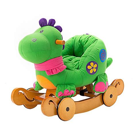 dinosaur car seat toddler rocking dinosaur with seat and wheels for 1 2 year
