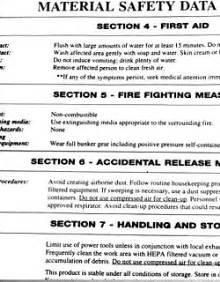 Glade Air Freshener Coshh Sheet Safety Data Sheet