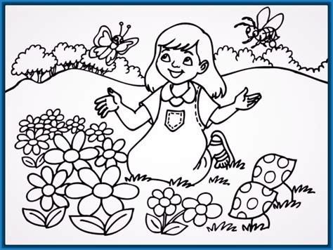 imagenes para colorear primavera colorear primavera infantil archivos dibujos para dibujar
