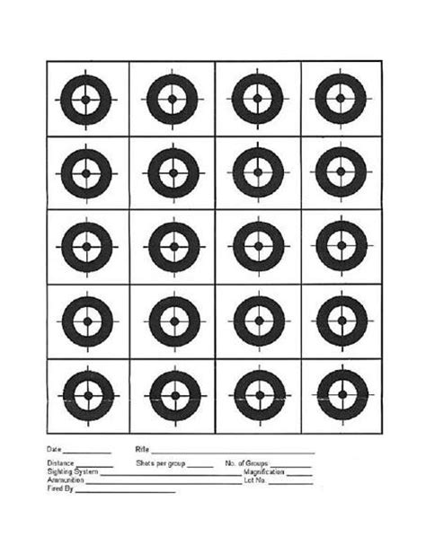 printable dot targets rimfire central 20 circle target targets printable