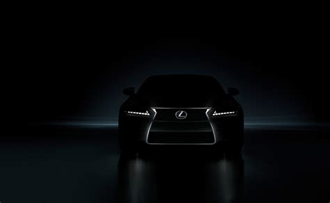 lexus lit lexus releases shadowy picture of 2012 gs350 we add light