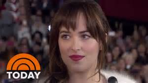 e l fifty shades of grey cast e l james interview at special screening today youtube