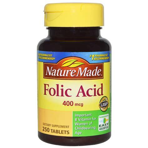 Tablet Folic Acid Nature Made Folic Acid 400 Mcg 250 Tablets Iherb