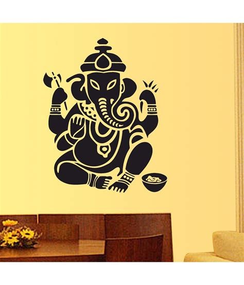 myntra home decor stickerskart lord ganesha design in black wall decor black