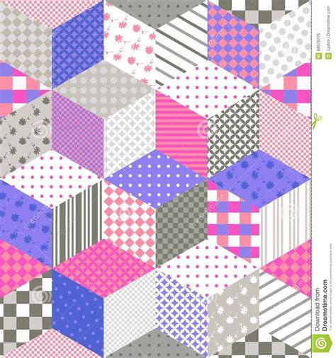 Patchwork Designs Patches - seamless patchwork pattern quilting design with