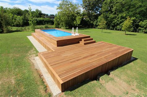 piscine fuori terra rivestite in legno solarium per piscine fuori terra bf63 pineglen