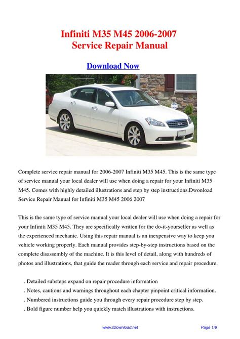 service repair manual free download 2007 infiniti g35 spare parts catalogs service manual 2003 infiniti m free repair manual 2003 2007 infiniti g35 coupe sedan model