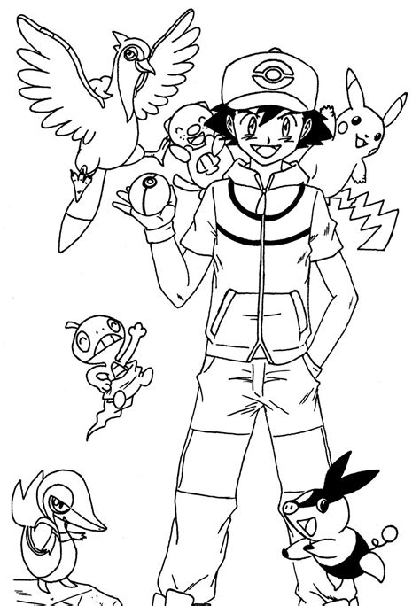 pokemon unova coloring pages ash ketchum unova team by rohanite on deviantart
