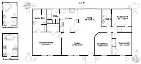 palm harbor homes floor plans oregon the klamath iii 4p57s09 floor plan manufactured and or